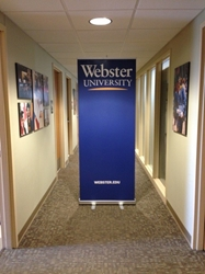 Webster Vertical University Banner
